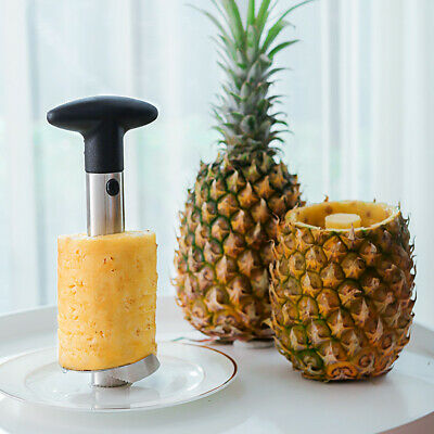 Easy Kitchen Tool Stainless Steel Pineapple Fruit Corer Slicer Cutter Peeler New