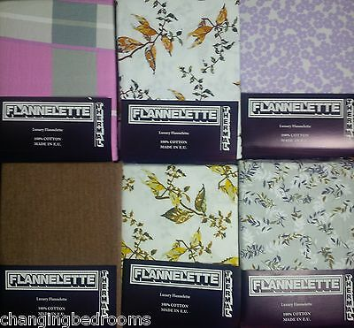 Various Designs Thermal Double Bed Size Winterwarm Flannelette 4 Piece Sheet Set