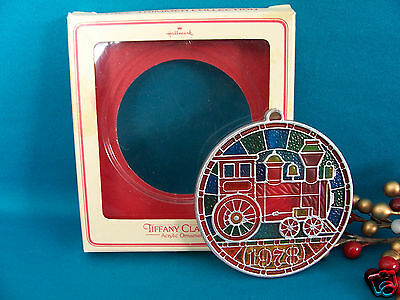 Hallmark Acrylic Ornament Color of Christmas 1978 Locomotive Train Engine V $80