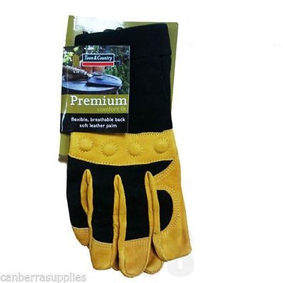 Town & Country Tgl432L Garden Premium Comfort Leather Gardening Glove - Large