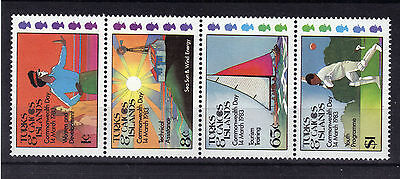 TURKS & CAICOS IS 1983 Commonwealth Day Stamp SET 4v Unmount Mint MNH Ref:AA215