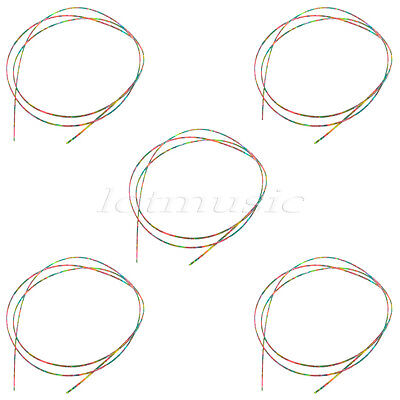 5pcs Colorful Celluloid Guitar Binding Body Project Purfling 1650 x 2 x 1.5mm