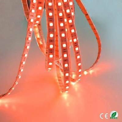 24v 5M RED LED 5050 SMD STRIP BRIGHT LIGHT WATERPROOF MARKER SCANIA ACTROS ATEGO