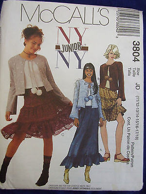 McCall's 4766 Juniors' NY NY Gowns Pattern 3//4-9//10 or 11//12-17-18