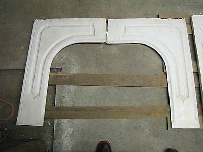Two White Carrar Marble Mantle Front Pieces  6082