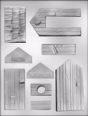 3D Outhouse Chocolate Clear Candy Mold from CK Products 90-13630 - NEW
