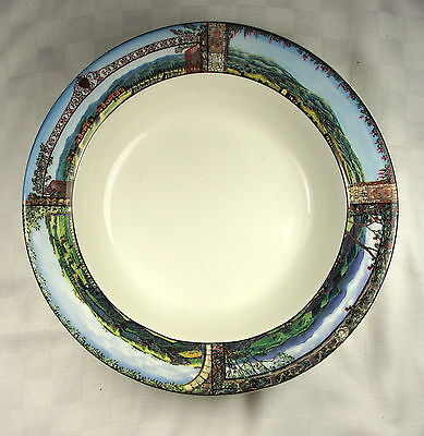 "Sakura Tuscan Travels 8.3/4"" Rimmed Soup Bowl"