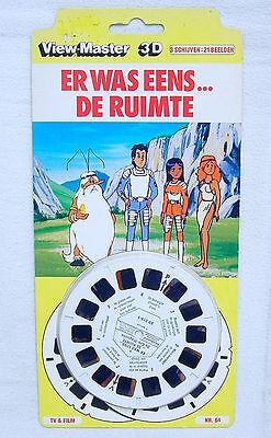 """View-Master Belgium ONCE UPON A TIME """"SPACE"""" 3-D MOVIE PROJECTOR REEL SET MOC`82"""