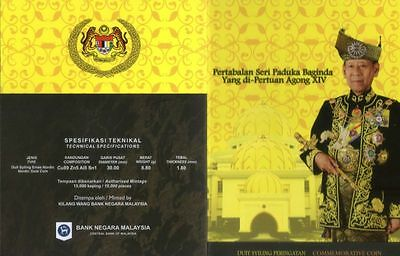 Malaysia 2012 Installation Of The King Xiv Nordic Gold