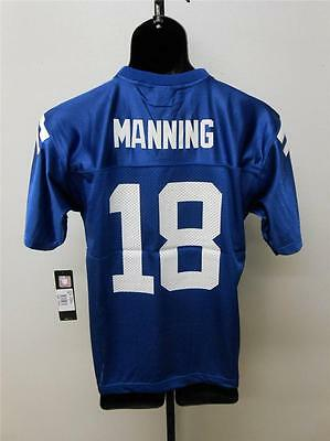 NEW #18 Manning INDIANAPOLIS COLTS YOUTH S SMALL SIZE 8 REEBOK Jersey  26ME