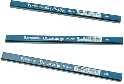 REXEL BLACKEDGE BLUE (SOFT) CARPENTERS JOINERS PENCIL - Pack of 12 Pencils