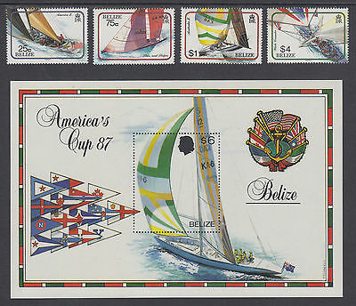 Belize Sc 858/872 MNH. 1987 America's Cup + Indigenous Monkeys, 2 cplt sets
