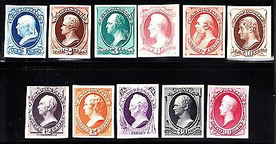 US 156P4 - 166P4 Plate Proofs on Card XF SCV $1220