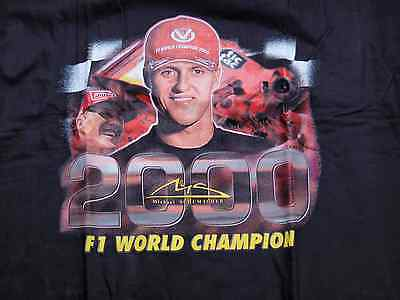 "Michael Schumacher T-Shirt ""F1 World Champion 2000"" Größe XL"