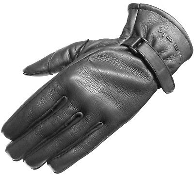 Black Axel Leather Classic Vintage Fashion Motorcycle Bike Gloves Ghostbikes