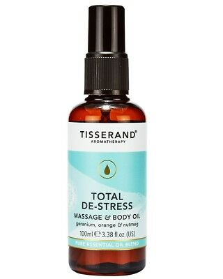 Tisserand DE-STRESS Aromatherapy Essential BODY OIL Orange/Geranium/Nutmeg 100ml