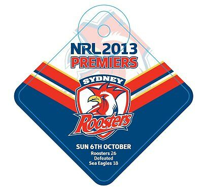 Sydney Roosters NRL Premiers 2013 Car Sign Premiership Winners