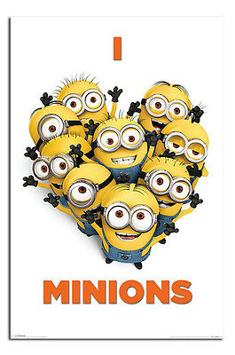 Despicable Me 2 I Love Minions Large Wall Poster New - Laminated Available