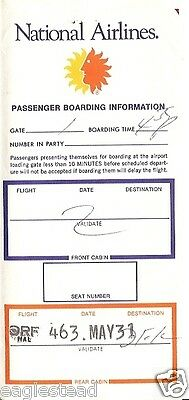 Ticket Jacket - National - Route Map - 1977 (J1237)