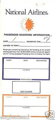 Ticket Jacket - National - with Boarding Pass - 1976 (J1235)