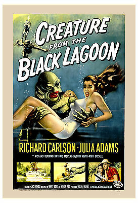 Universal Horror: * Creature From The Black Lagoon * Movie Poster 1954