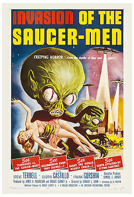1950's Sci-Fi  * Invasion of the Saucer - Men *  Movie Poster 1957