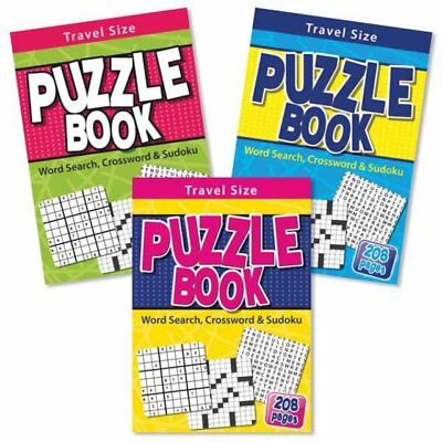A5 Travel Puzzle Wordsearch Crossword Sudoku Book