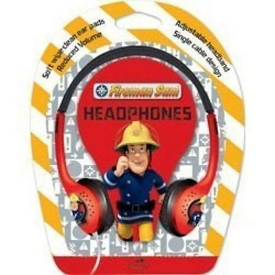 Little Star Fireman Sam Kids Over Ear Stereo Wipe Clean 3.5mm Headphones Red New