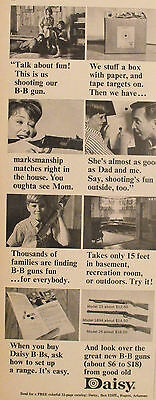 1965 Daisy BB Pump Gun Mom~Dad & Me Western Air Rifle Model 1894 25 26 Toy #2 AD
