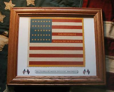 34 Star Civil War Flag.....54th Massachusetts.....Glory