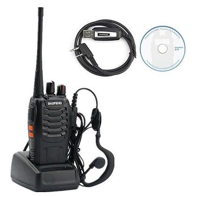 BaoFeng BF-888S + USB Cable + Earpiece Long Range 16CH Two-way Walkie Talkie UK