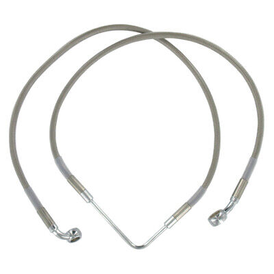 """Front +8"""" Stainless Braided Brake Line 2006-2007 Harley-Davidson Dyna Wide Glide"""