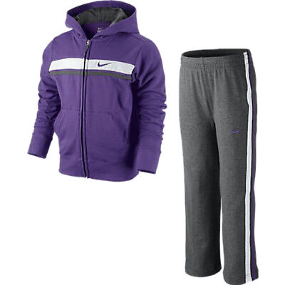 Nike Mädchen Trainingsanzug Full Zip Hooded Jogginganzug lila/grau Girls