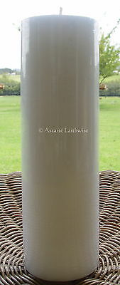 CANDLE: WHITE PILLAR  230 x 70 mm   - Wicca Witch Goth Pagan Spell Ritual Altar