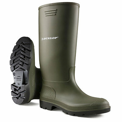 Kids Boys Girls Dunlop Waterproof Wellington Boots Rubber Wellies Snow Mud Shoe