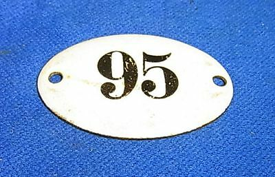 Vintage German Enamel & Iron Sign 95 #AR15