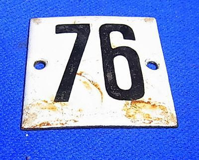Vintage German Enamel & Iron Sign 76 #AR24