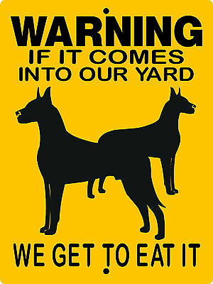 "GREAT DANE  DOG SIGN,9""x12"" ALUMINUM SIGN,GUARD DOGS,WARNING,SECURITY,  2652GD1"