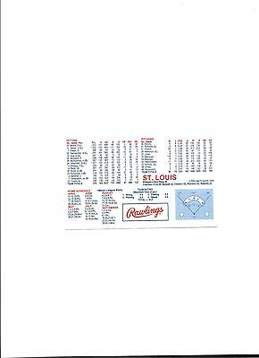 1978 Rawlings New York Yankees Home Schedule & Roster with