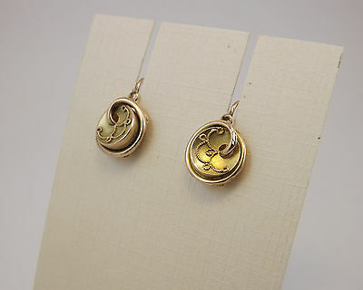 ORECCHINI ANTICHI IN ORO 14 Kt  OLD GOLD EARRINGS