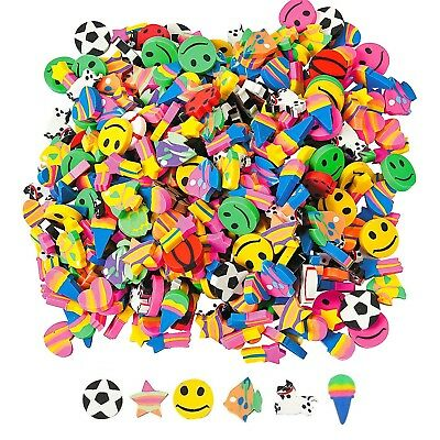 Pack Of 100 Mini Small Erasers Rubbers Party Supplies Favours Prizes