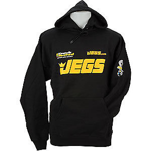 JEGS 733 JEGS Black Hooded Sweatshirt