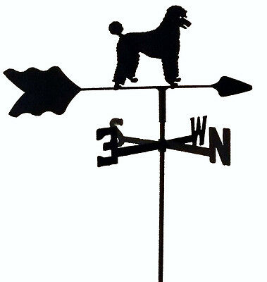 Poodle Garden Style Weathervane Black Wrought Iron Look Made In Usa