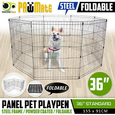 "36"" 8 Panel Pet Playpen Portable Exercise Cage Fence Enclosure Dog Puppy Rabbit"