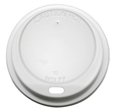 1000 x P12DL  Sip Thru Lids To Fit 12oz Dart Foam/ Polystyrene Cups 12LX12 Lids