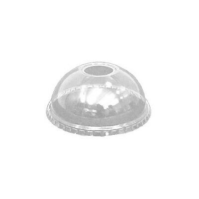 100 x Solo 14oz Domed Lids DLR662 With Hole Fits Solo TP12 TN20 Cups 9oz Tub TP9