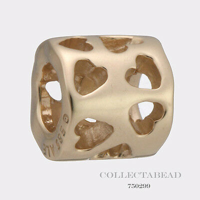 Authentic Pandora 14kt Gold Tunnel of Love Bead 750299