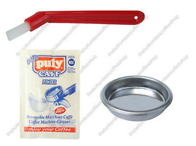 Blind Filter Basket Puly Caff Sachet Cleaning Brush Gaggia Coffee Machine Maker