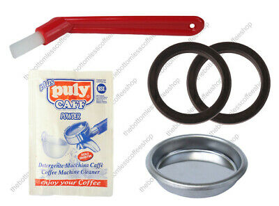 Puly Caff Blind Filter Basket Rubber Gasket Brush Gaggia Coffee Machine Maker
