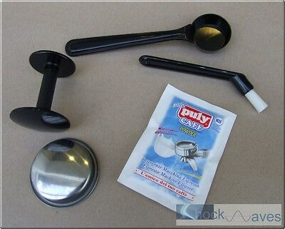 Cleaning Brush 57mm Tamper Measuring Spoon Blind Basket Puly Caff Gaggia Coffee